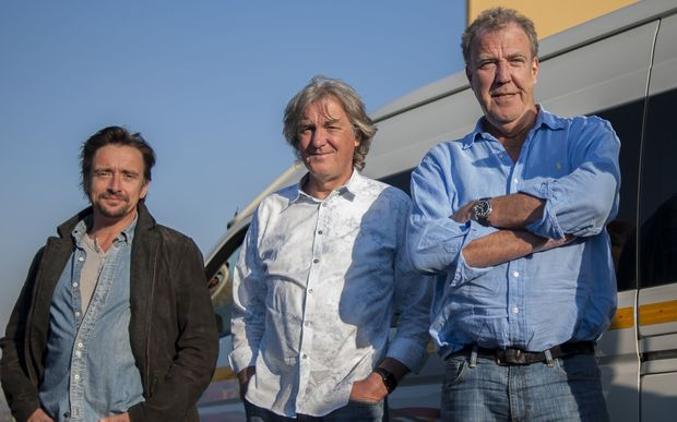 (From left) Former Top Gear hosts Richard Hammond, James May and Jeremy Clarkson.