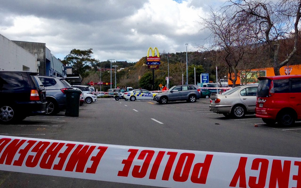 The scene in central Upper Hutt.