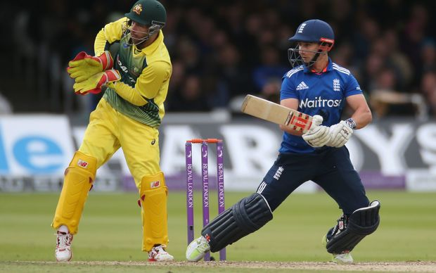 A patient century from James Taylor helped England to a 91 run win.