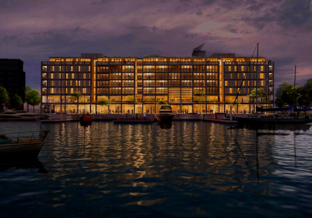 An artist's impression of the hotel.Photo:ar + d / Bossley Architects