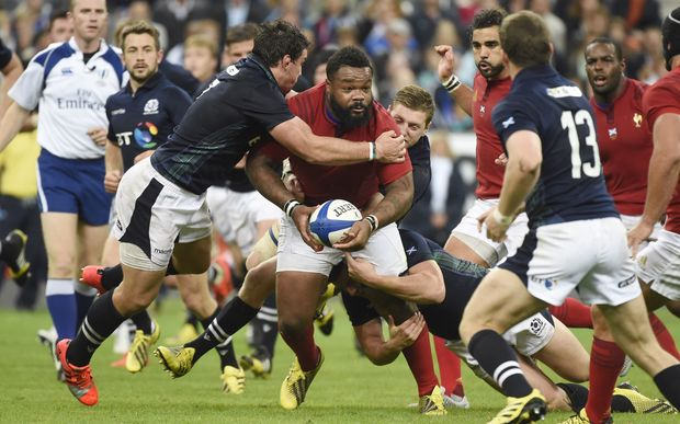 Mathieu Bastareaud of France during the Test Match 2015 Rugby Union match between France and Scotland on September 5, 2015 at Stade de France in Saint Denis, France. Photo Jean Marie Hervio / Regamedia / DPPI