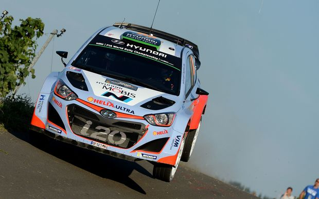 The New Zealand rally driver Hayden Paddon.