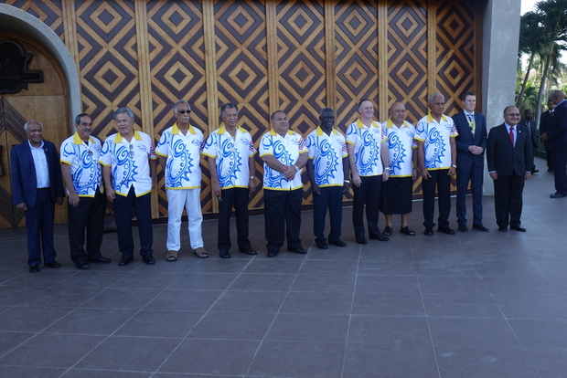 Pacific Forum leaders in Port Moresby for the 2015 Forum Leaders Summit.