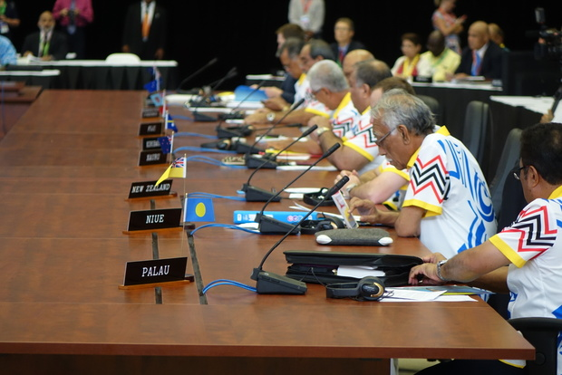 Island leaders at the Pacific Islands Forum summit in Port Moresby press their call for greater response to climate change by developed countries.