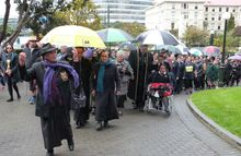 About 300 demonstrated against the proposed closure of Turakina Māori Girls' College.