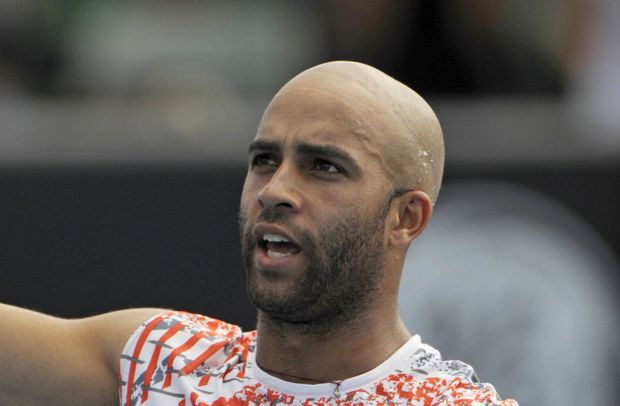Former American tennis player James Blake.