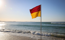 Lifeguard flag, Gold Coast.