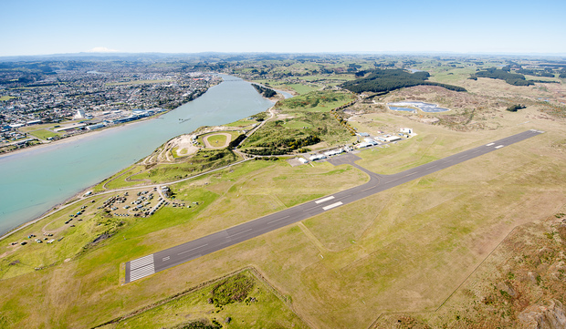 An aerial view of Whanganui airport.
