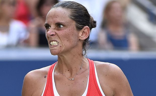 The Italian tennis player Roberta Vinci.