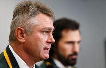 Heyneke Meyer and veteran forward Victor Matfield.