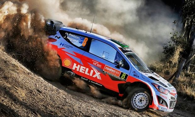 Hayden Paddon at Rally Australia, 2015.