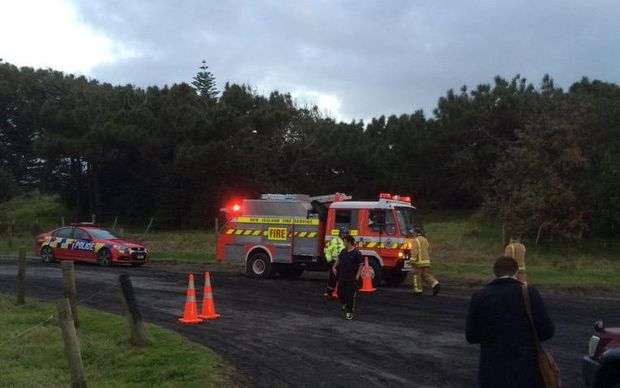 Emergency services at Muriwai beach.