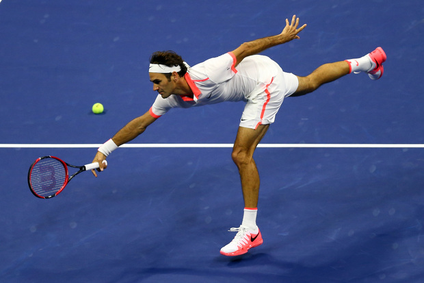 Roger Federer in the US Open final