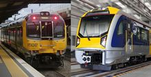 Auckland and Wellington trains
