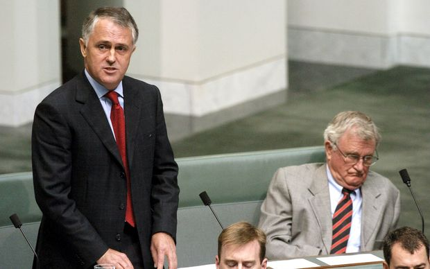 Malcolm Turnbull makes his maiden speech in Australia's parliament in 2004.