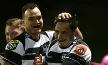 Israel Dagg and Zac Guildford playing for Hawke's Bay.