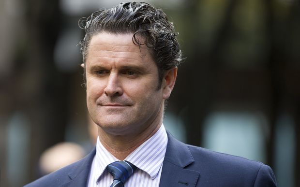 Former New Zealand cricketer Chris Cairns leaves Southwark Crown Court in London in October 2014.
