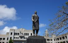 Ratu Sir Lala Sukuna, Fijian chief and statesman regarded as the forerunner of the post independence leadership of Fiji although he died before independence. His statue stands in front of the court and parliament complex in the heart of Suva