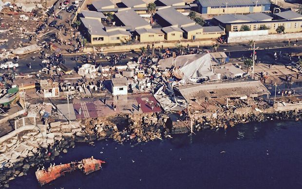 The port of Coquimbo was badly damaged in the 8.3 magnitude earthquake.
