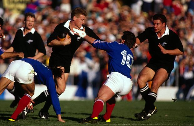 John Kirwan in action during 1987 World Cup.