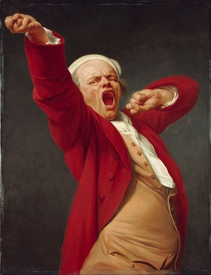 'Self-Portrait, Yawning' by Joseph Ducreux (1783)