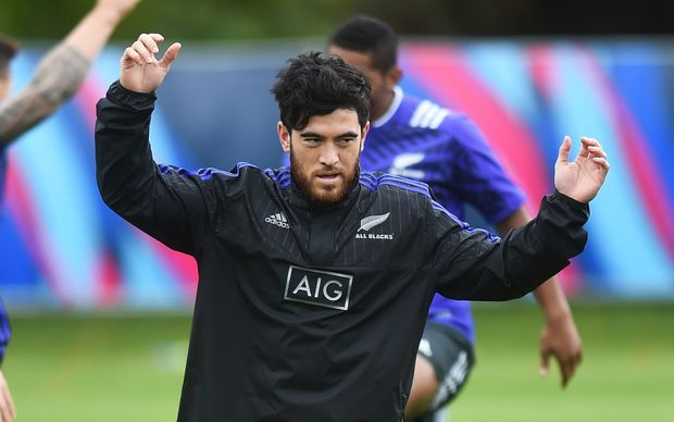 Nehe Milner-Skudder at All Blacks training at the Lensbury Hotel, Teddington, London. 2015 Rugby World Cup in England. Wednesday 16 September 2015. Copyright photo: Andrew Cornaga / www.photosport.nz
