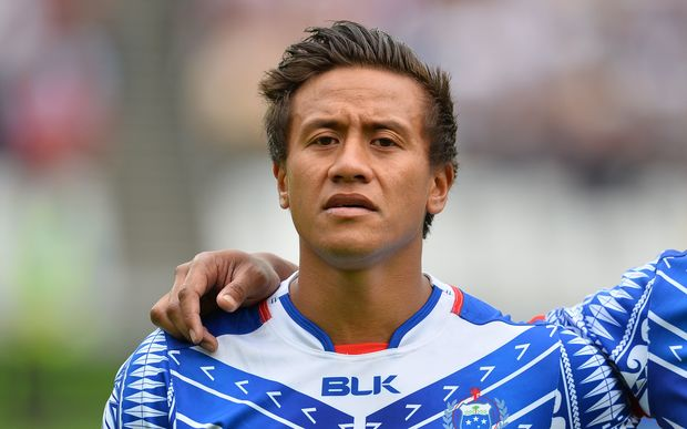 Tim Nanai-Williams made his test debut for Samoa against the All Blacks in July.