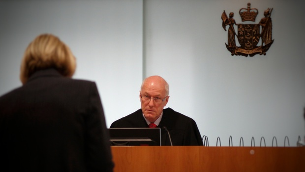 Christine Gordon acting for the US giving a submission to Judge Nevin Dawson in the extradition hearing of Kim Dotcom and co-accused.