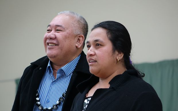 Reverend Iosefa Suamalie, seen here with Ioane Teitiota's wife, Angua Erika, will plead to keep Mr Teitota in New Zealand.