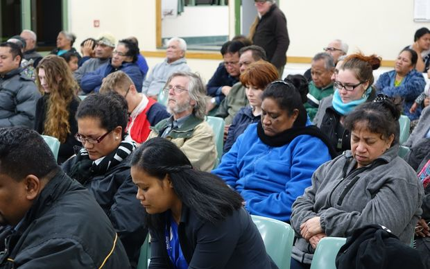About 70 people turned out last night to support Ioane Teitiota.