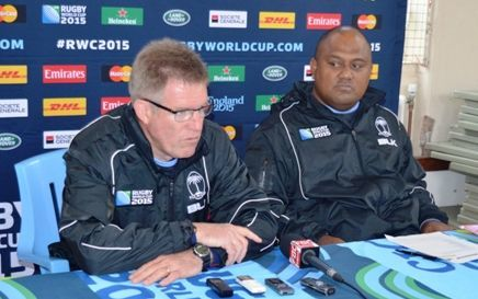 Fiji rugby coach John McKee announces his team to face Australia at the World Cup.
