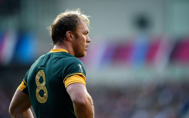 Schalk Burger of South Africa during the team's Rugby World Cup loss to Japan on Sunday.