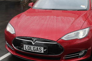 This is  an image of the front of Steve West's Tesla
