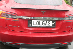 This is an image of the rear  of Steve West's second Tesla