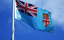 fiji flag at parliament