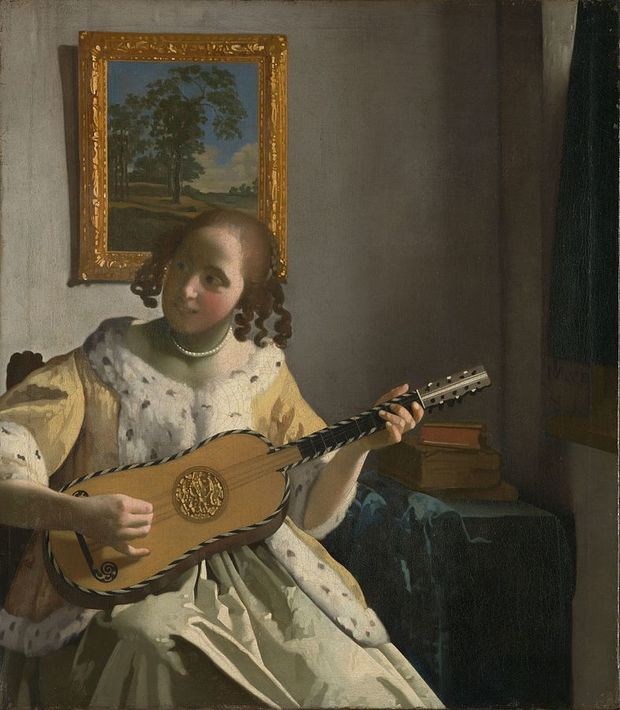 The painting The Guitar Player, by Vermeer
