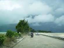A road in Kiribati, taken by VSA volunteer 2014-2015