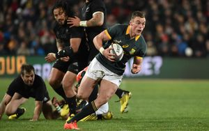 JOHANNESBURG, South Africa, 25 July 2015: Jesse Kriel scores his try for the Springboks in the Rugby Championship Test between SOUTH AFRICA and NEW ZEALAND at Ellis Park in Johannesburg, South Africa, 25 July 2015. Bokke 20 - 27 All Blacks