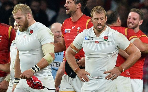Why the long face? England captain Chris Robshaw after defeat by Wales.