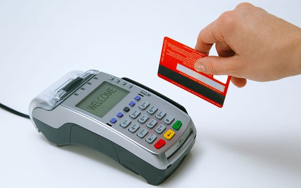 EFTPOS machine and card