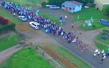 Protest on Norfolk Island