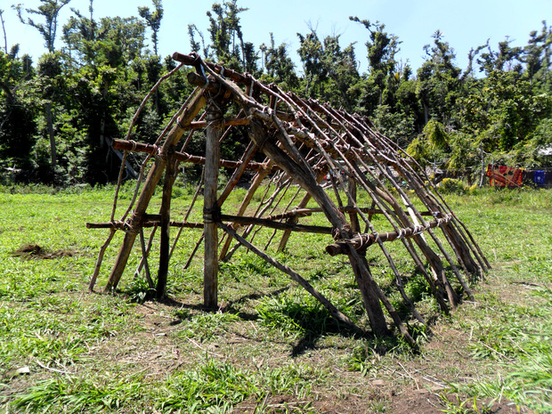The traditional Vanuatu Nimaleten or custom house structure.