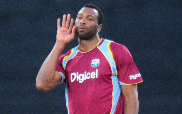 Kieron Pollard playing for West Indies in South Africa, January, 2015.
