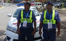 PNG Police at the 2015 Pacific Islands Forum meeting.