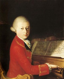 Mozart, by Saverio Dalla Rossa (oil on canvas)
