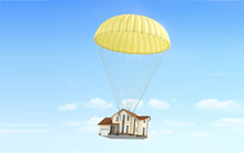 House with parachute