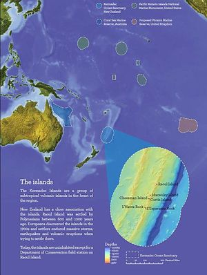 The Kermadec Ocean Sanctuary, pictured along with other large marine protected areas in the Pacific.