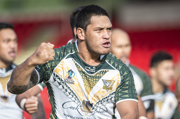 Cook Islands player before their match vs NZ in 2013.