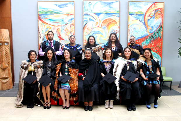 This group of Māori nursing students graduated from Whitireia this week.