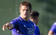 The All Blacks captain Richie McCaw during a training session in Cardiff ahead of their Rugby World Cup match against Georgia.